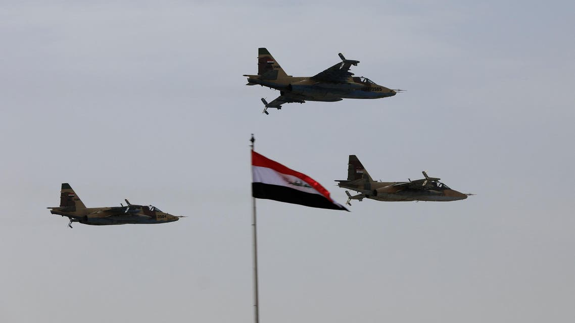 Iraqi Air Force planes fly past during Iraqi Army Day anniversary celebrations in Baghdad on January 6, 2018. (Reuters)