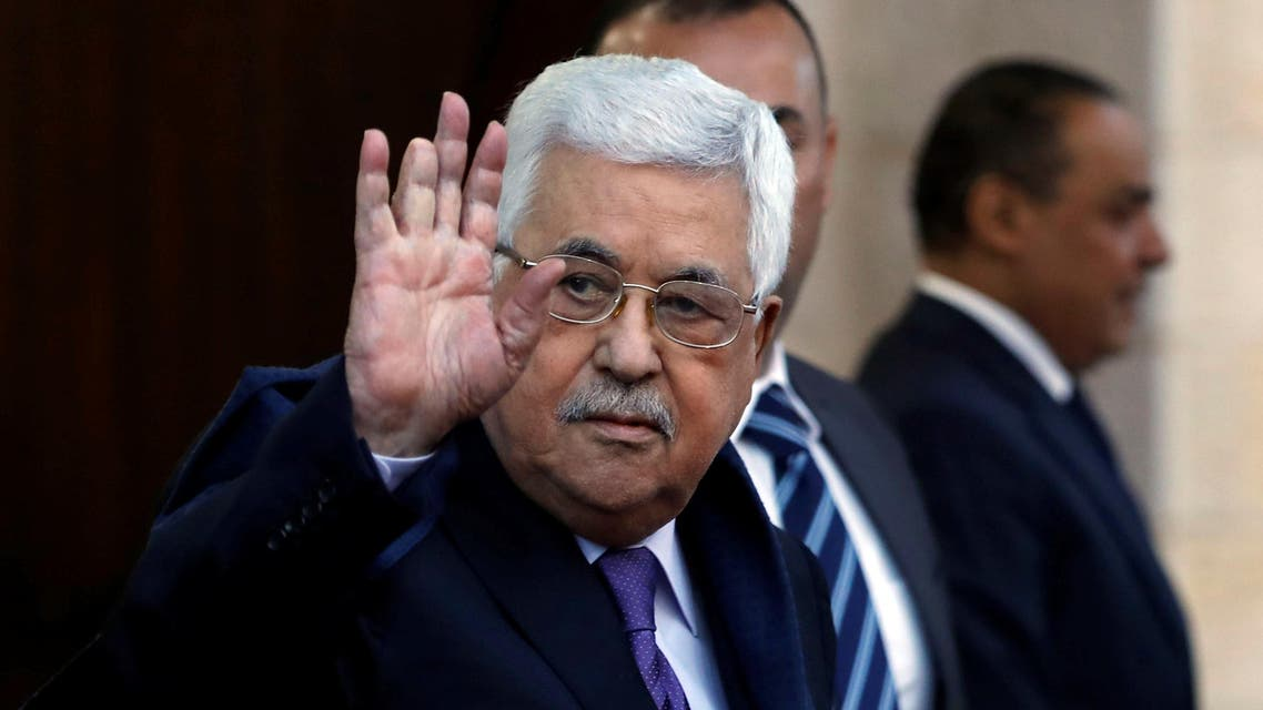 Palestinian President Mahmoud Abbas waves in Ramallah, in the occupied West Bank May 1, 2018. Picture taken May 1, 2018. REUTERS/Mohamad Torokman