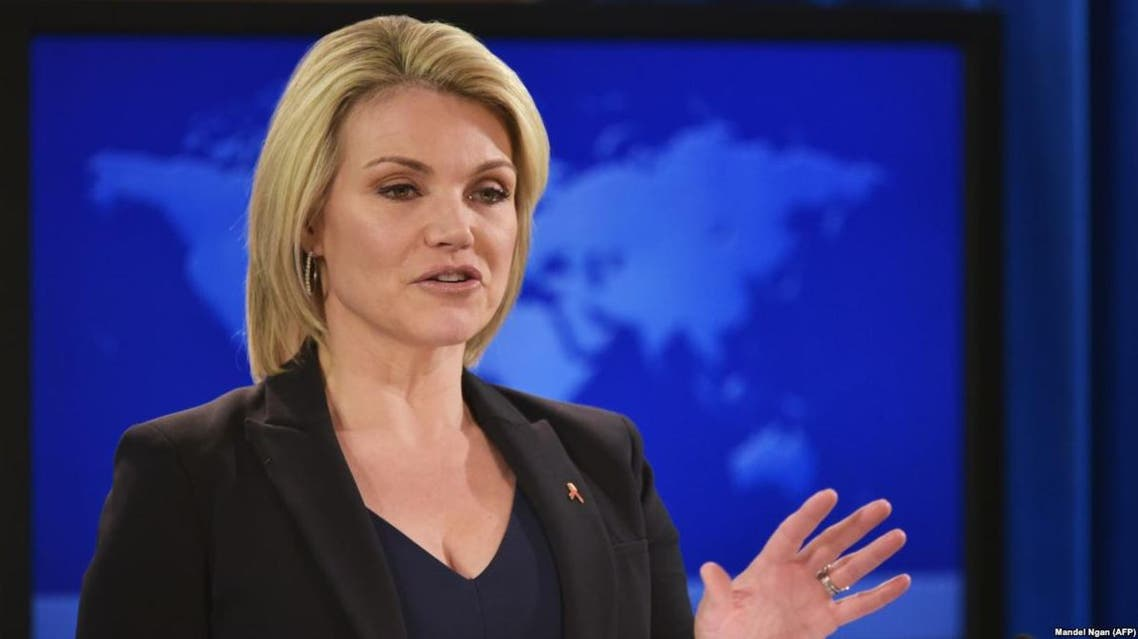 """""""The United States will take firm and appropriate measures in response to Assad regime violations,"""" State Department spokeswoman Heather Nauert said. (File photo: AFP)"""