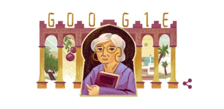 'Google Doodle' pays ode to Egyptian novelist Radwa Ashour (Screengrab)
