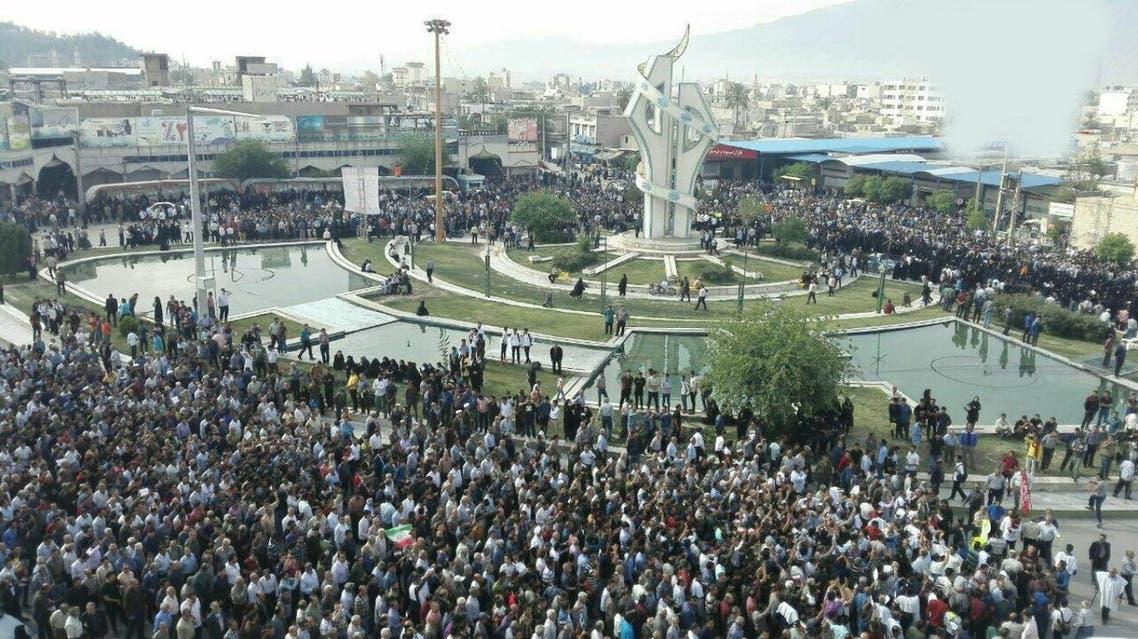 iran protests Kazeroon
