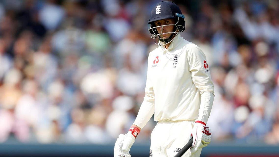 England's Joe Root looks dejected as he walks off after losing his wicket. (Reuters)
