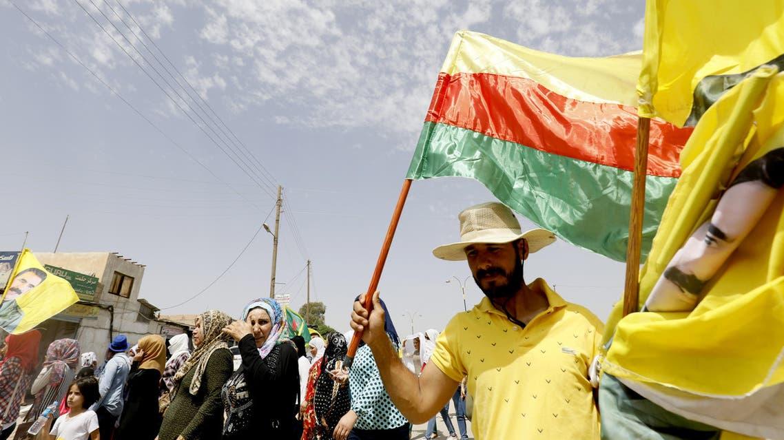 مظاهرات بالقامشلي رفضاً للدور التركي في عفرين