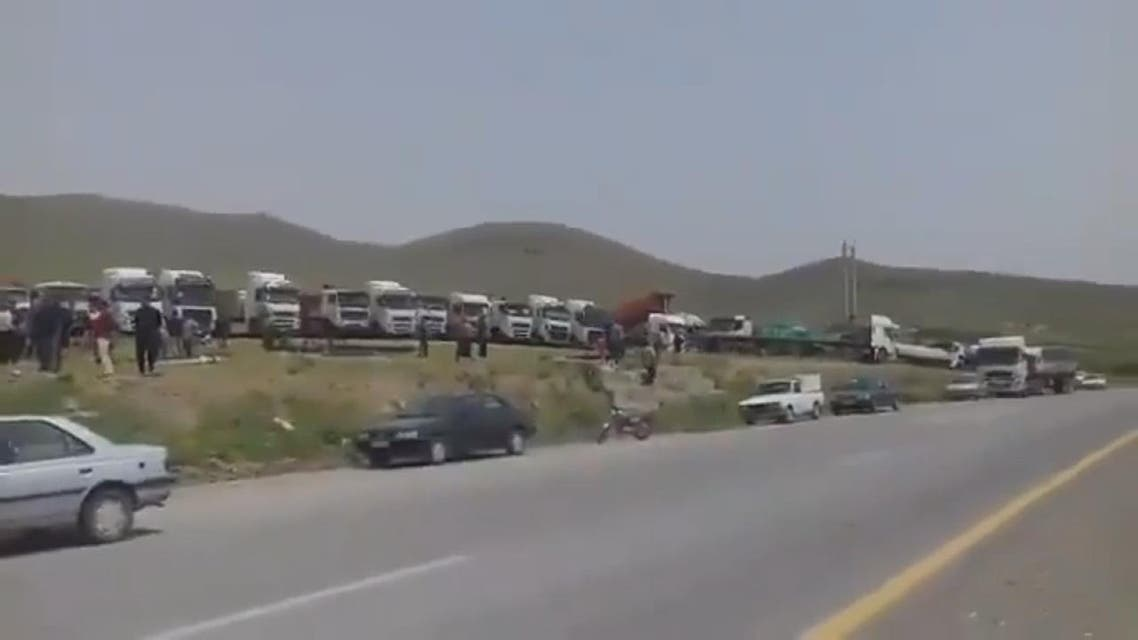 THUMBNAIL_ اتساع نطاق إضراب سائقي الشاحنات في إيران