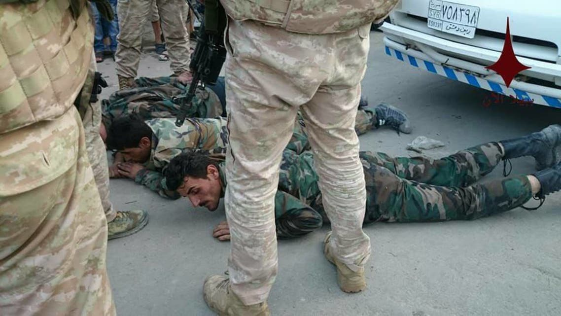 عناصر جيش الأسد المقبوض عليهم من قبل الشرطة العسكرية الروسية