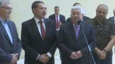 الرئيس الفلسطيني محمود عباس يغادر المستشفى