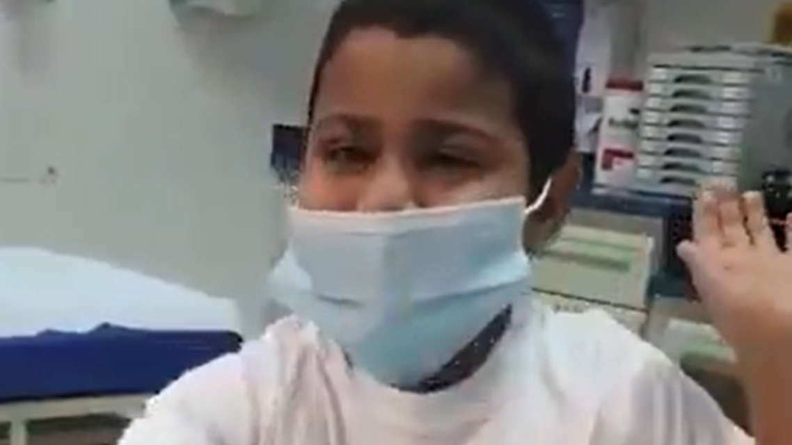 The boy, named Saif, told the health ministry to share the video on all social media sites. (Screengrab)