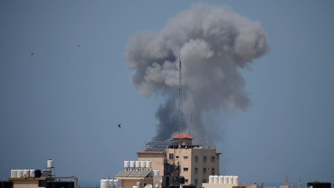 Smoke rises following an Israeli air strike in Gaza May 29, 2018. REUTERS