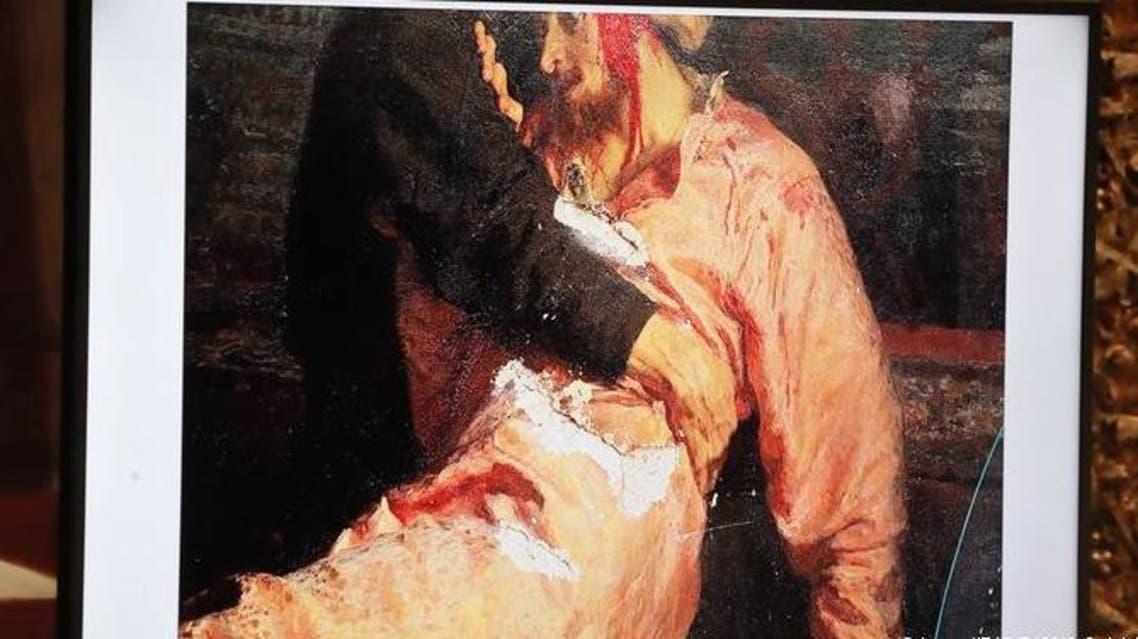 لوحة إيفان الرهيب تعرضت للتخريب في 3 أجزاء