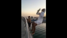 WATCH: Two teenagers arrested after jumping off bridge into Dubai Canal
