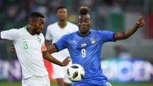 Balotelli scores on Italy return in friendly win over Saudi Arabia