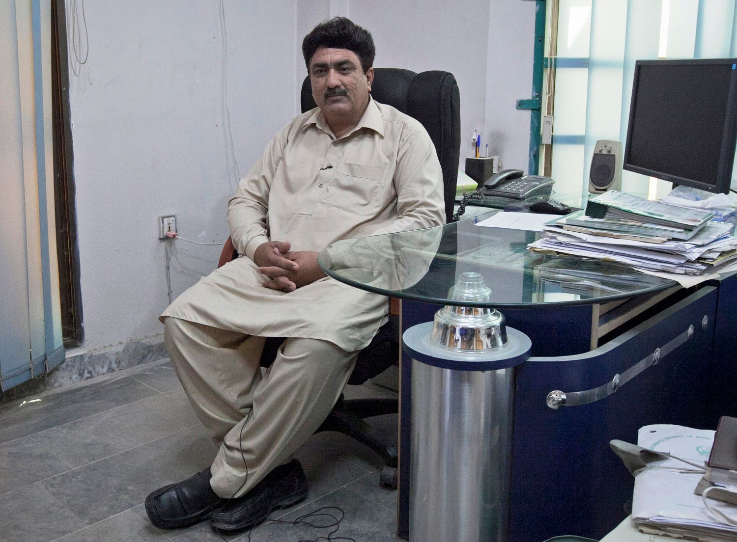Jamil Afridi, brother of Pakistani doctor Shakil Afridi, gestures during an interview with Reuters in Peshawar June 13, 2012. (Reuters)