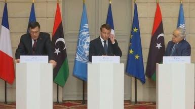 ماكرون: جميع الأطراف الليبية وافقت على بيان باريس