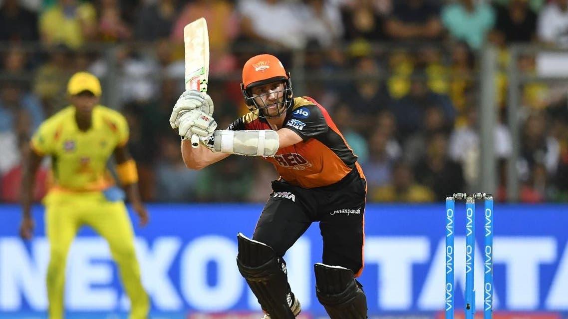 Sunrisers Hyderabad captain Kane Williamson plays a shot during the 2018 Indian Premier League (IPL) Twenty20 final cricket match between Chennai Super Kings and Sunrisers Hyderabad. (AFP)