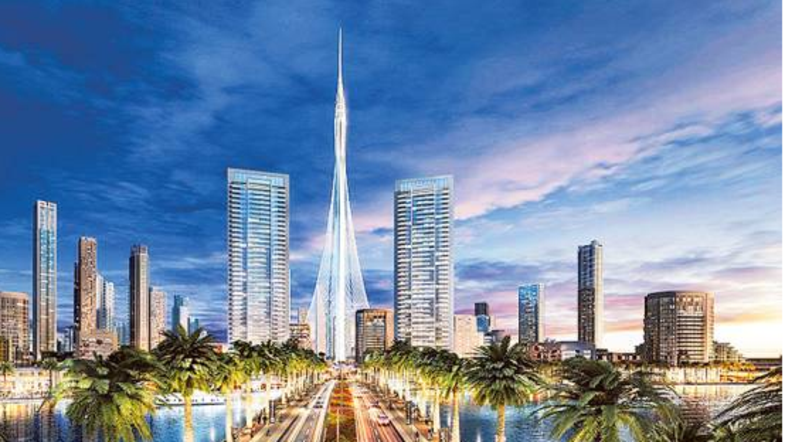 World's next tallest tower in Dubai hits construction