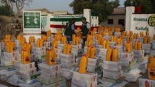 مركز الملك سلمان يوزع آلاف السلال الغذائية بأرض الصومال