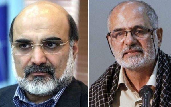 من اليمين- حسين الله كرم القيادي في أنصار حزب الله  وعلي عسكري رئيس هيئة الاذاعة والتلفزيون الايرانية