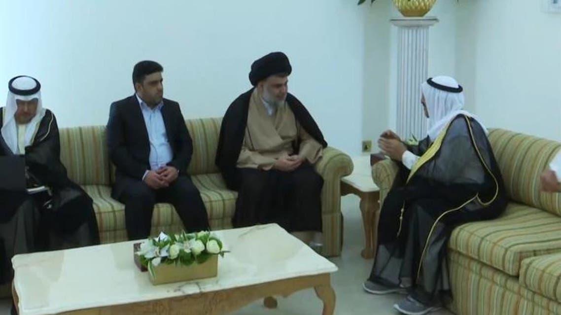 Moqtada al-Sadr with Kuwait Emir. (Supplied)