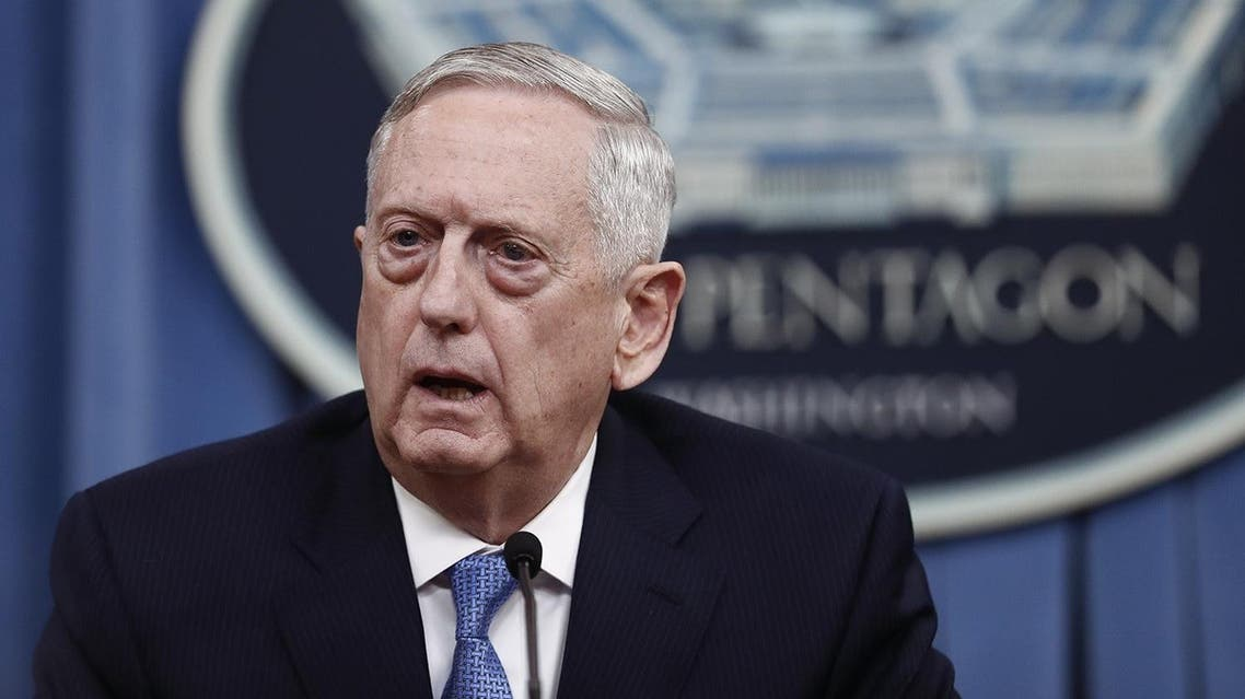 James Mattis spoke in a press briefing late on Tuesday. (File photo: AP)