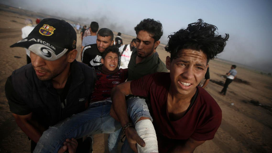 t least 122 Palestinians have been killed since mass protests and clashes broke out along the Gaza border on March 30. (AP)