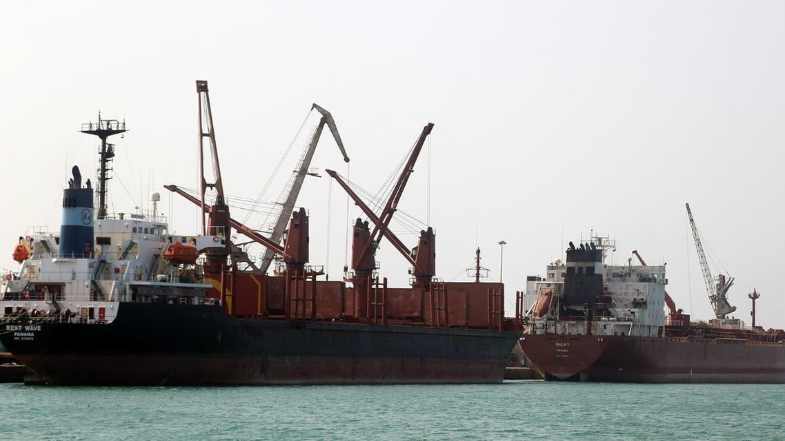 ميناء الحديدة اليمني المطل على البحر الأحمر