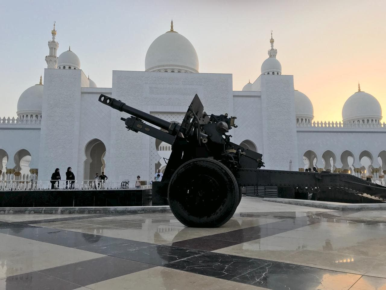 Daily canon firing at the mosque signals the end of fasting. (Supplied)