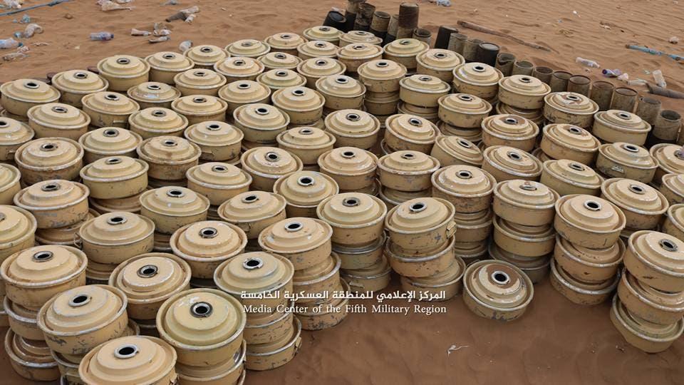 ألغام انتزعها الجيش اليمني في حجة