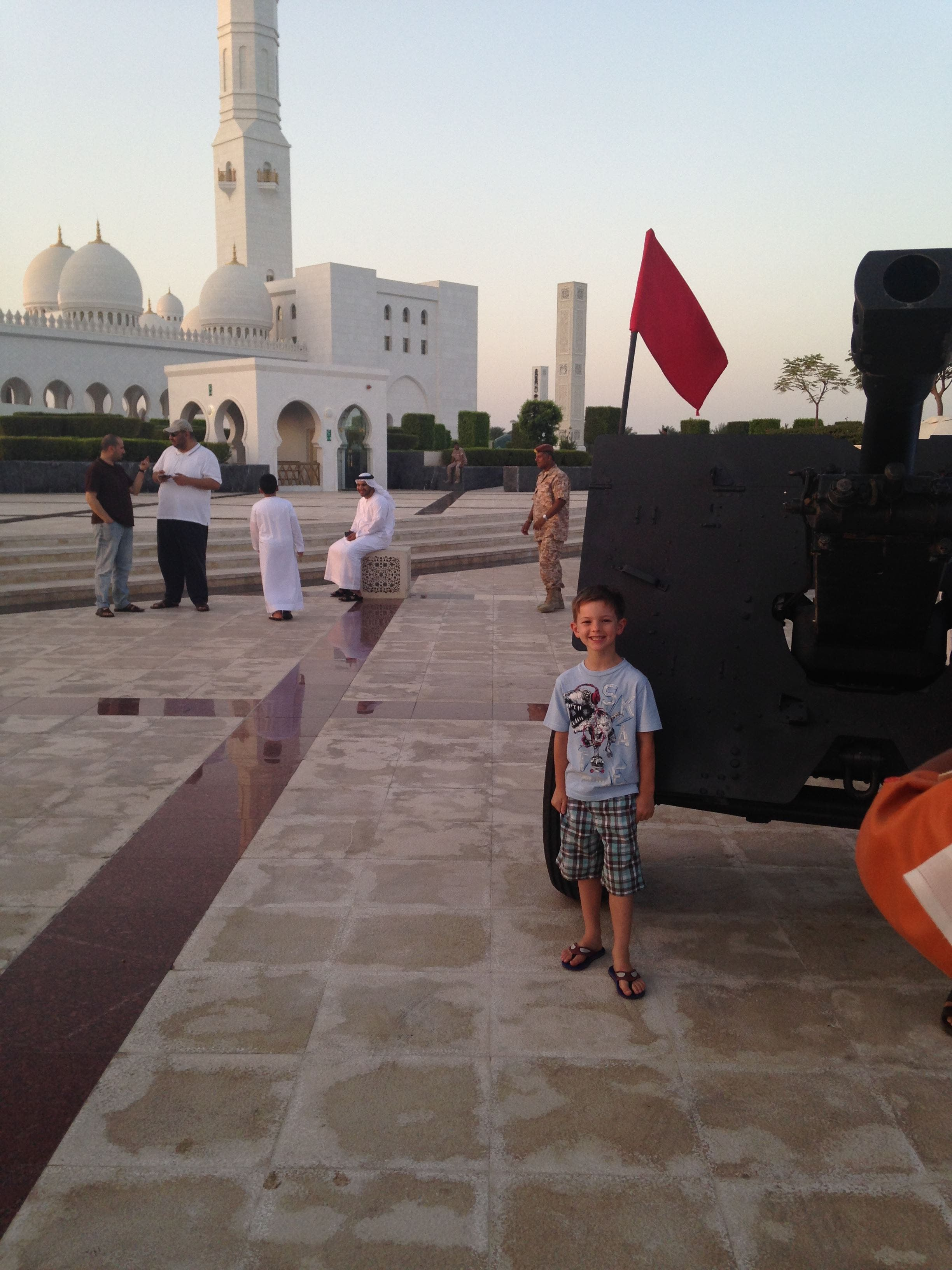 Louise Shephard's son, Harry, is now 9 years old. Harry feels visiting the mosque in Ramadan gives him a sense of togetherness. (Supplied)