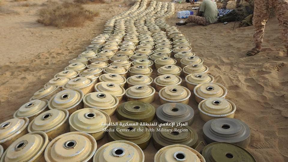 الفرق الهندسية في الجيش اليمني تنتزع مئات الألغام الحوثية