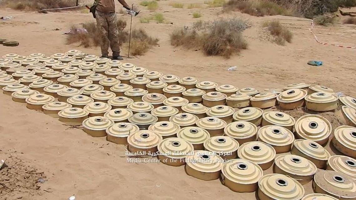الغام انتزعها الجيش اليمني في حجة