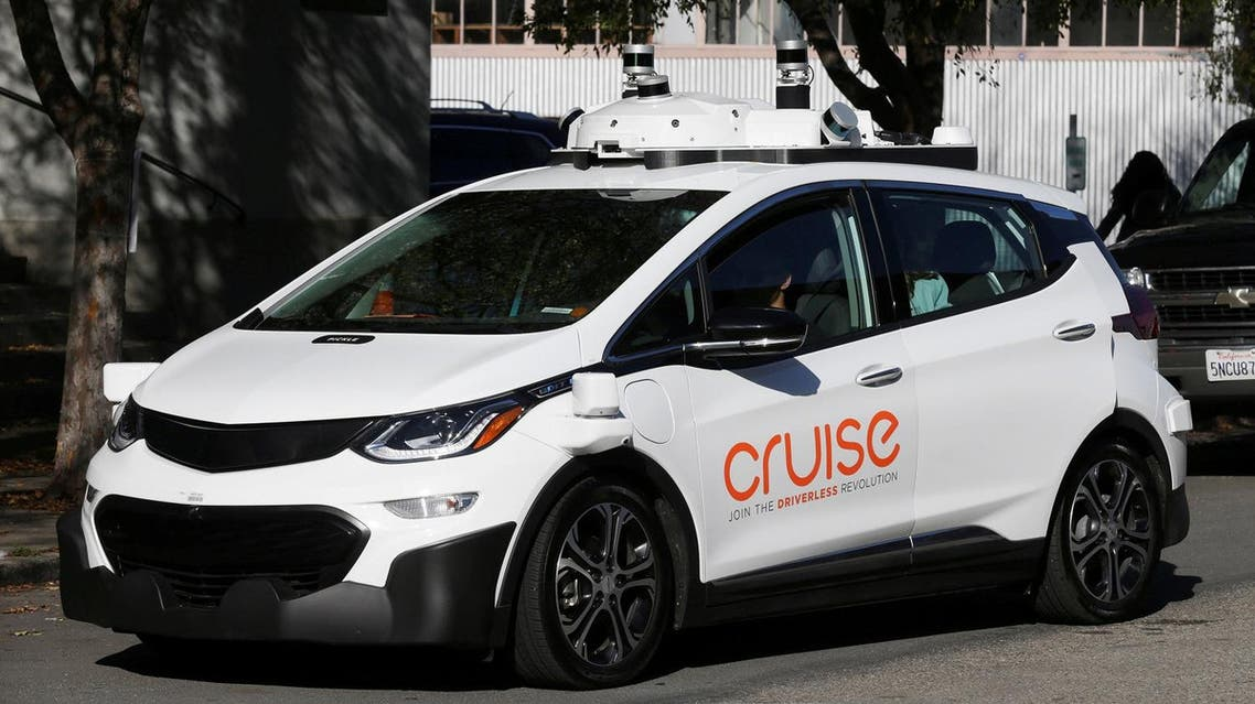 A self-driving GM Bolt EV is seen during a media event where Cruise, GM's autonomous car unit, showed off its self-driving cars in San Francisco, California, US,  November 28, 2017. (Reuters)