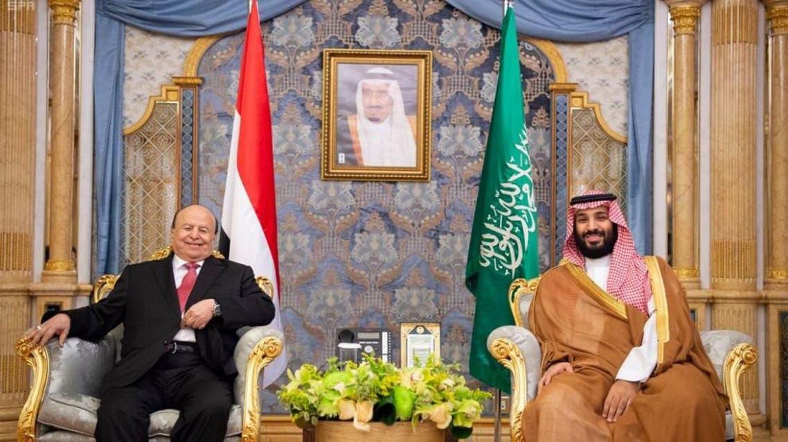 Saudi crowm prince yemen president. (SPA)
