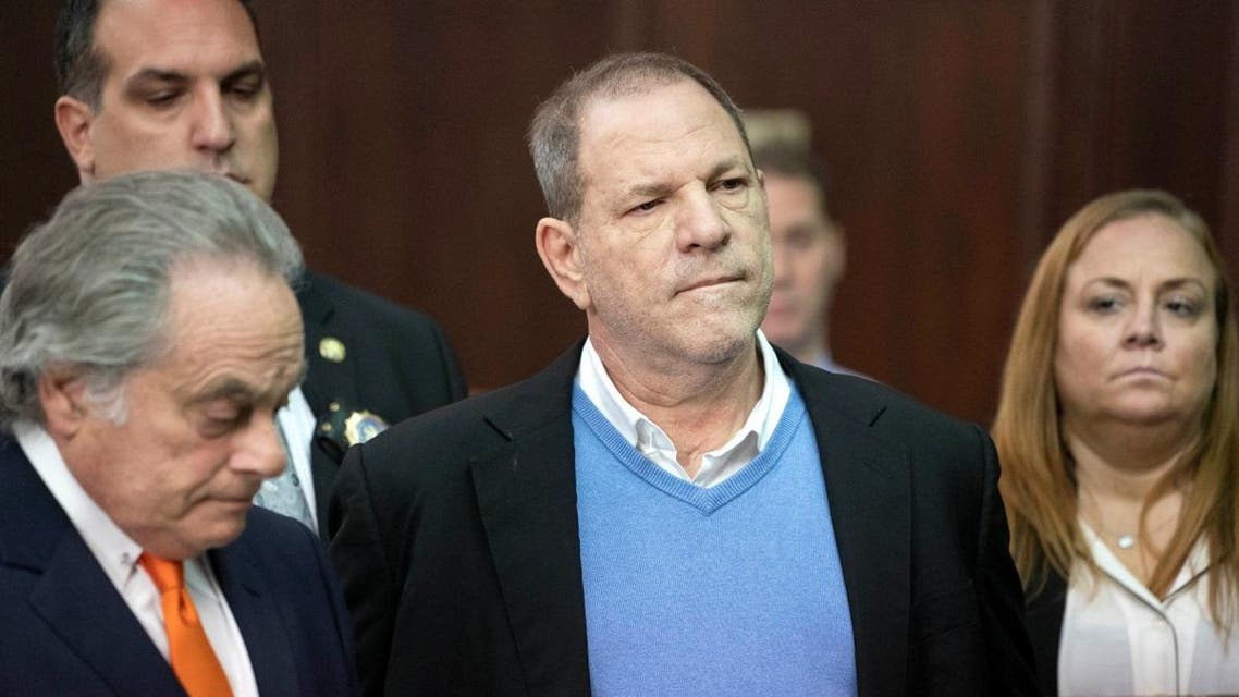 Film producer Harvey Weinstein during his arraignment in Manhattan Criminal Court in New York. (Reuters)