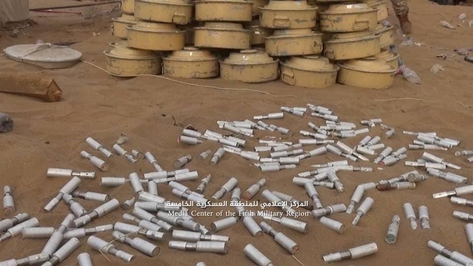 ألغام حوثية جديدة زرعتها في حجة وانتزعها الجيش اليمني