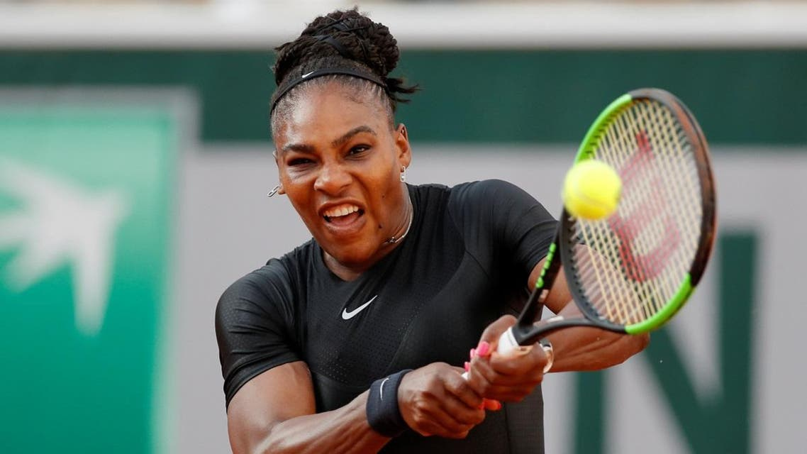 Serena Williams of the U.S. in action during her third round match against Germany's Julia Goerges. (Reuters)