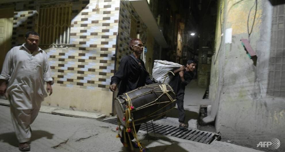 Drummer Ramadan. (AFP)