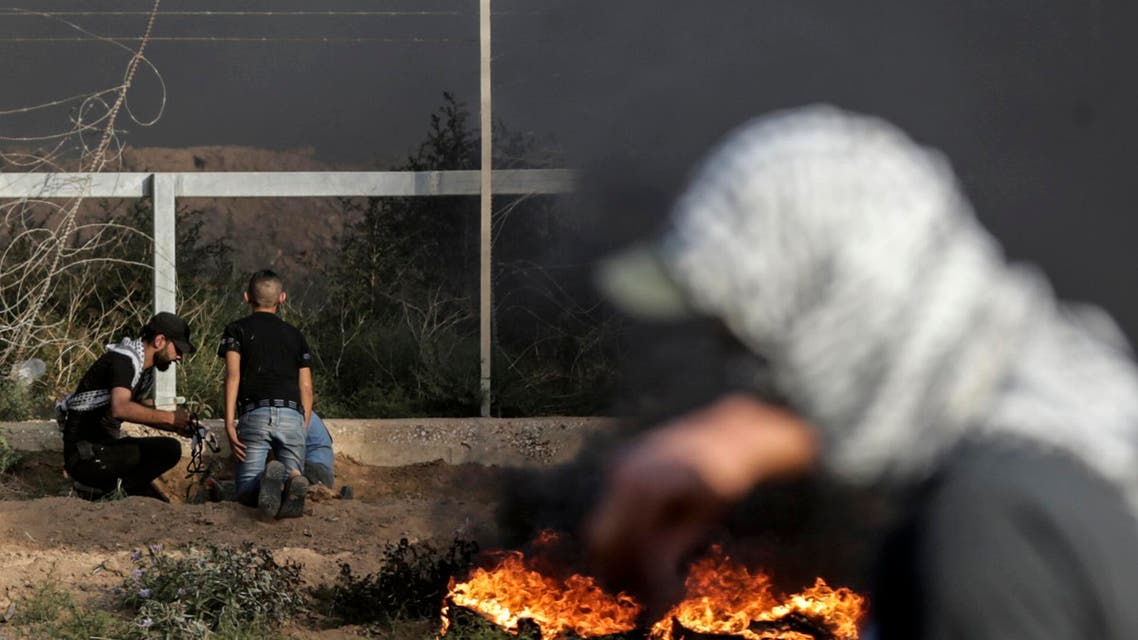 gaza protests. (AFP)