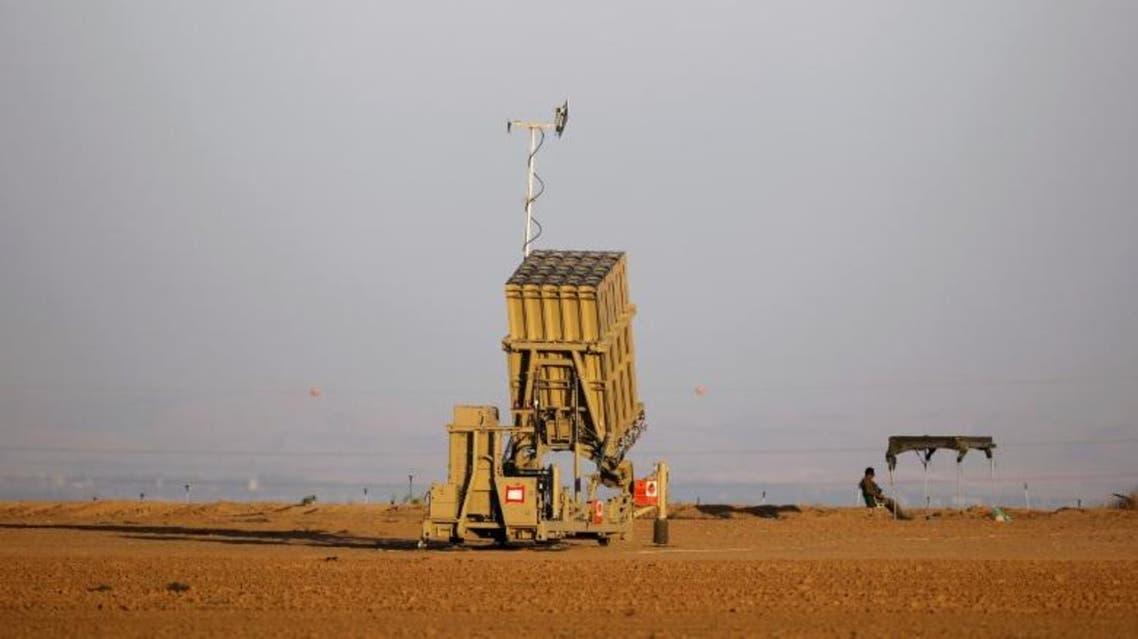 بطارية من نظام القبة الحديدية المضاد للصواريخ بالقرب من قطاع غزة