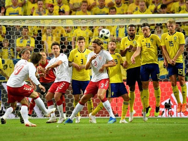 السويد تتعادل مع الدنمارك ودياً