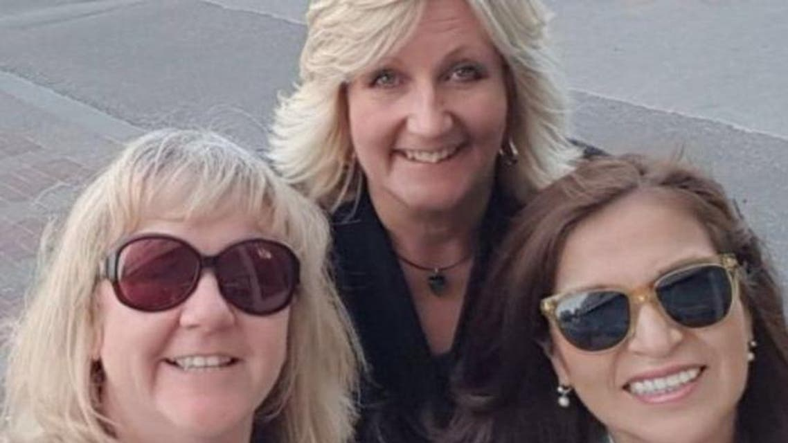 Susan Newbon, (L), with two other women selected to train female driving instructors. (Photo courtesy: BBC)