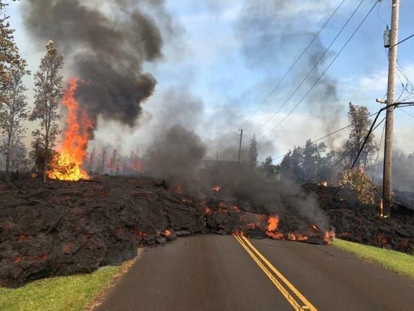 إجلاء سكان من بيغ آيلاند بهاواي مع اقتراب حمم بركانية