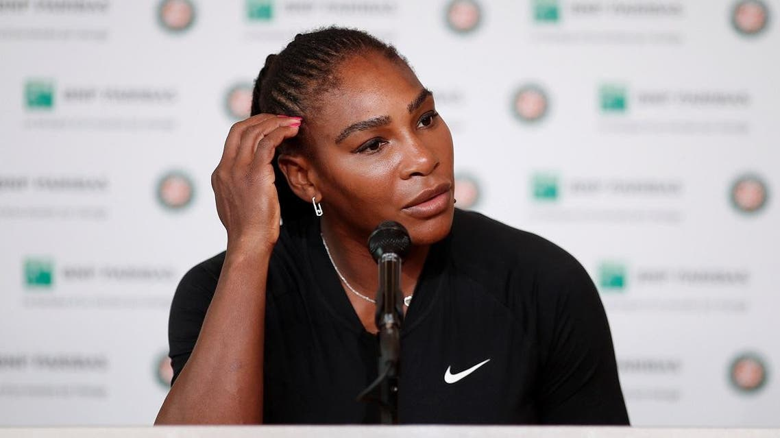 Serena Williams during a press conference after withdrawing from the French Open. (Reuters)
