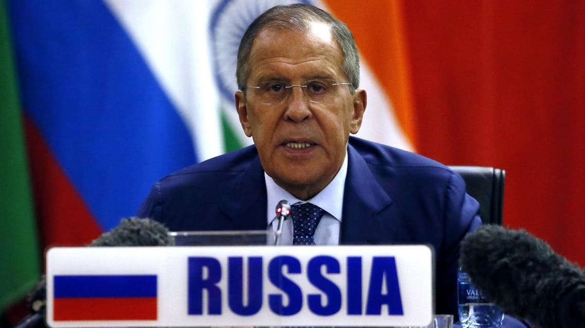Russian Foreign Affairs Minister Sergei Lavrov speaks during a BRICS foreign affairs ministers' meeting at the OR Tambo Building in Pretoria on June 4, 2018. The BRICS foreign affairs ministers are meeting in preparation for the full heads of state summit between July 25 and 27.