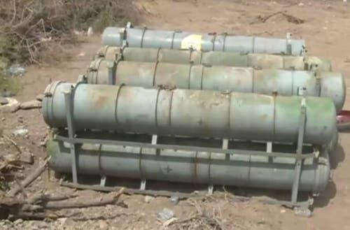 صواريخ حوثية عثرت عليها القوات اليمنية في الساحل الغربي