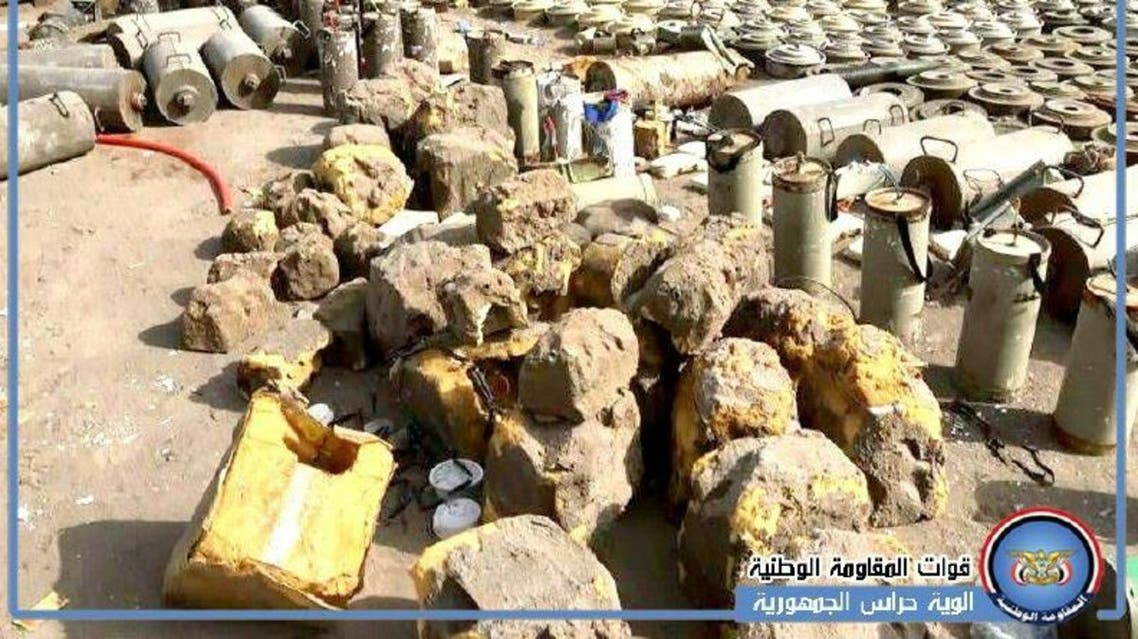 A member of the engineering teams said the militias have planted mines everywhere. (Supplied)