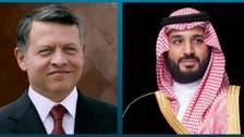Saudi Crown Prince and Jordanian King discuss regional developments in call