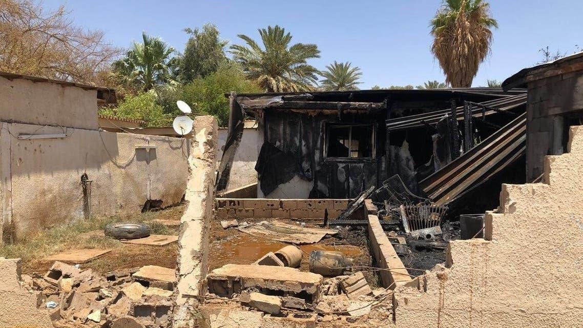 المنزل بعد الحريق