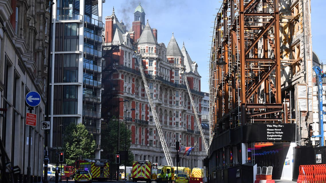 london hotel fire (AFP)