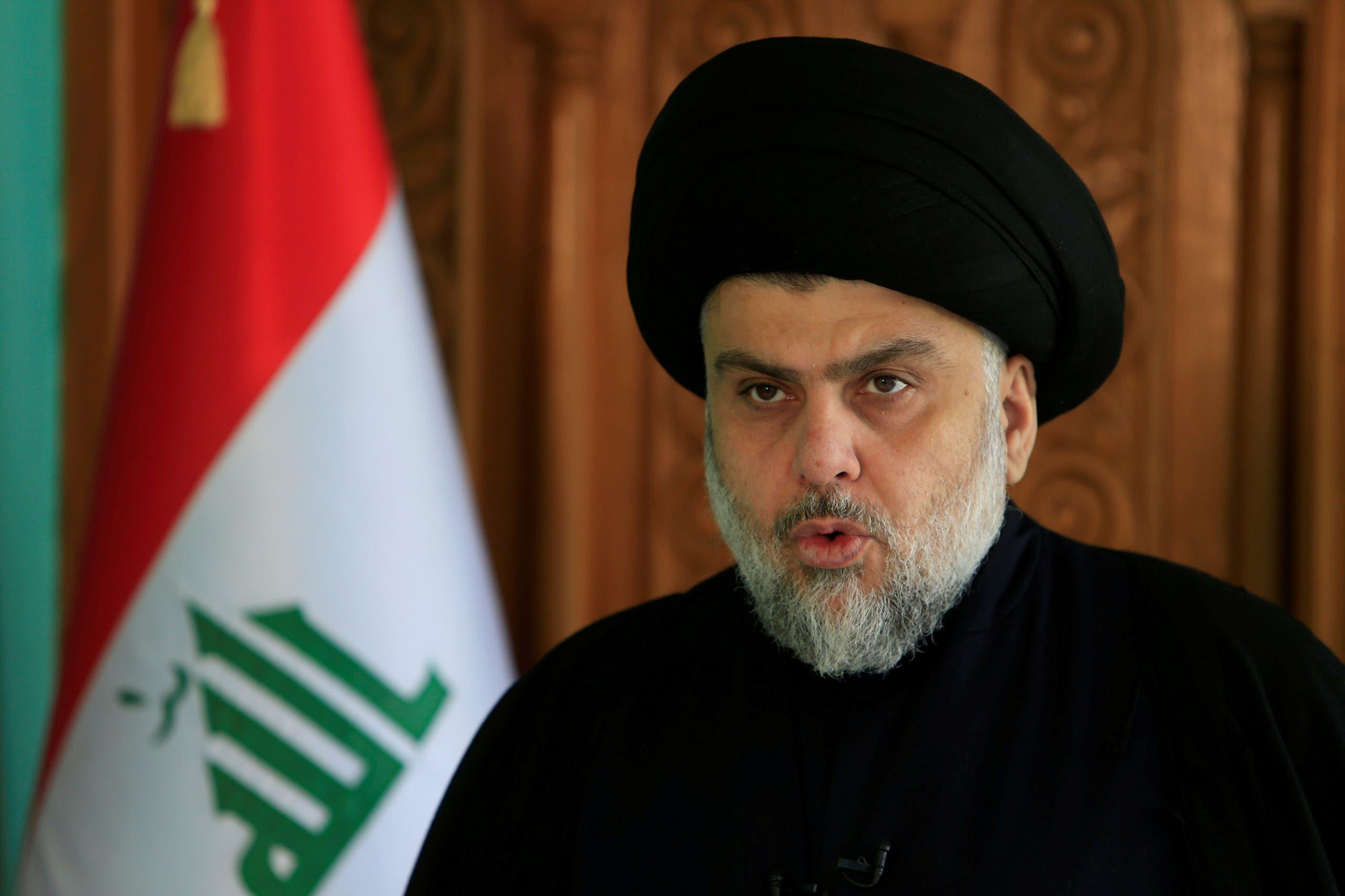 Muqtada al-Sadr delivers a speech in Najaf, Iraq, on December 11, 2017. (Reuters)