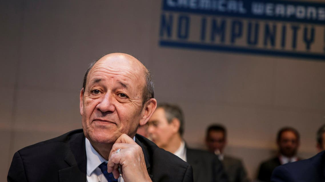 Le Drian said plans to save the nuclear agreement remained intact. (Reuters)